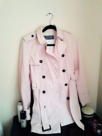 Trench coat rosa pastel