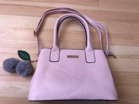 Bolso satchel rosa