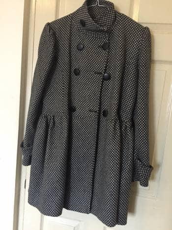 Abrigo de lana en estampado