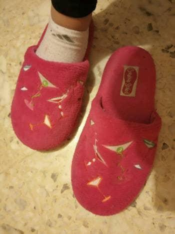 Pantuflas rosas2x1