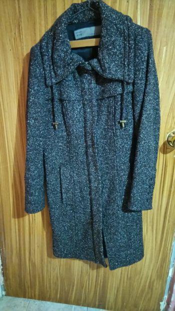 Abrigo largo de mezcla de lana