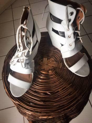 Zapatos huarache con tacon