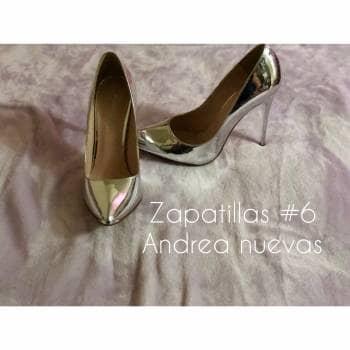 1285386a Zapatillas plata andrea - GoTrendier - 643760