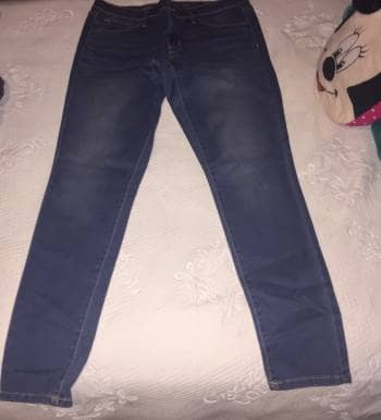 Mid-Rise Denim Legging