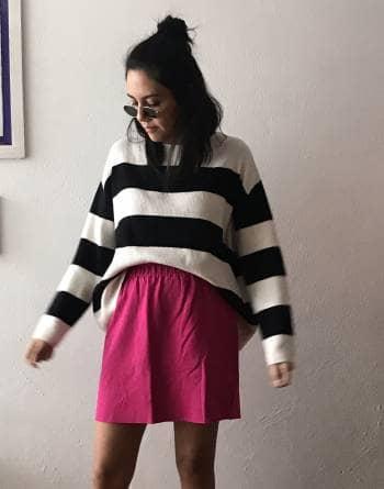 Falda rosa bershka