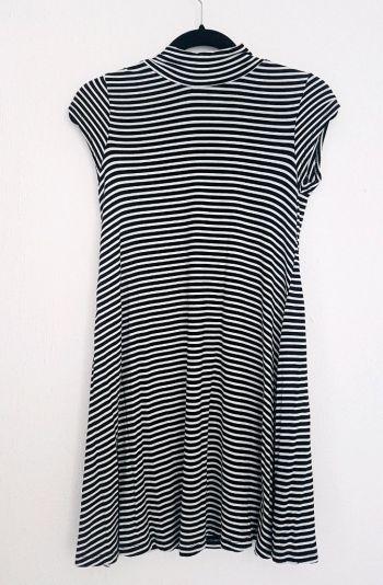 Vestido rayas blancas y negras