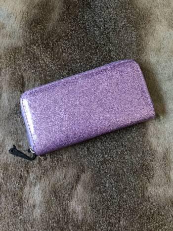 Cartera purple bling