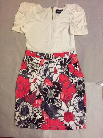 Vestido falda con flores