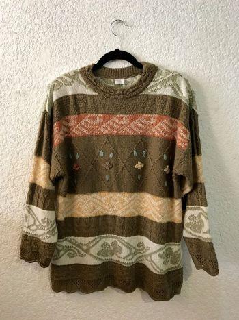 Suéter vintage con alcatraces