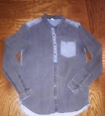 Camisa bicolor denim