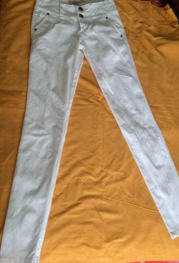 Pantalón mezclilla blanco