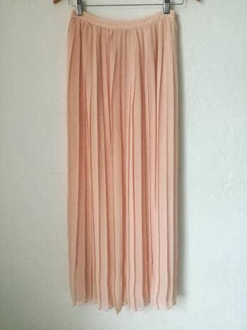 71916f652 Maxi skirt Falda tableada chiffon larga - GoTrendier - 666472