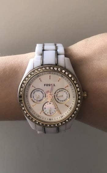 Reloj blanco fossil
