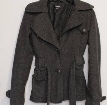 Saco abrigo gris obscuro