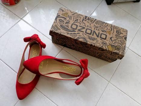 Flats rojas con moño