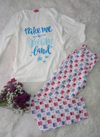 Pijama fresca y cómoda. Print de Búhos, nueva