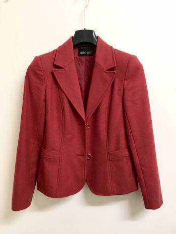 Abrigo tipo blazer rosa cereza