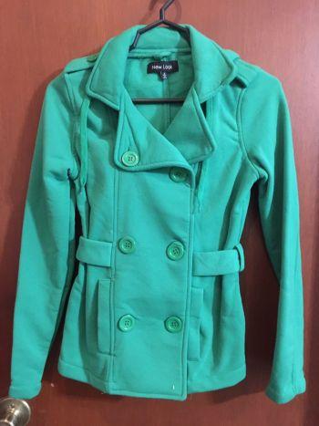 Abrigo afelpado verde