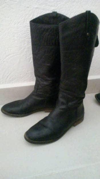Botas largas de piel