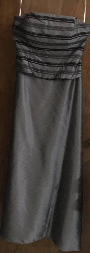 59494d426 Vestido gris acero de fiesta - GoTrendier - 1425663