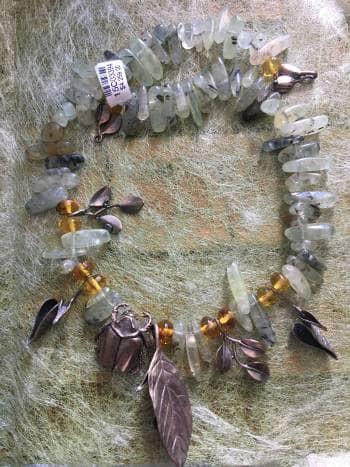 Collar escarabajo en el bosque