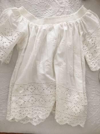 Blusa blanca semi formal