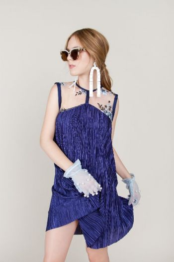 Blue Electric Star Dress
