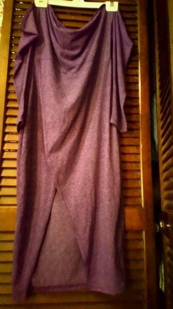 Vestido Color Uva Stretch Hombros Descubiertos Gotrendier 1670114