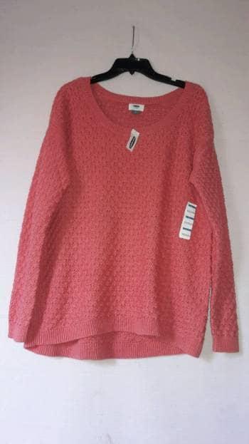 \suéter \ color coral largo
