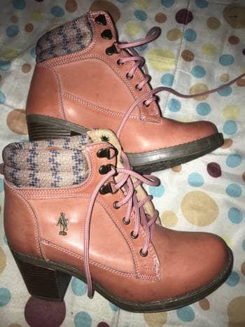 Botas rosas polo