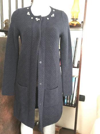 Abrigo tejido con brillitos