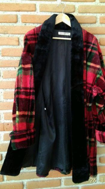 Abrigo largo color rojo