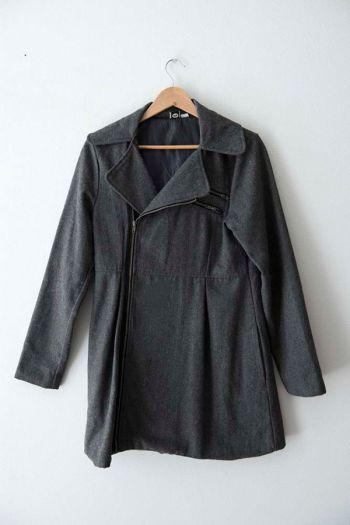Abrigo de lana semi largo