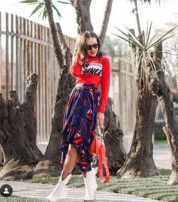 Suéter rojo corto Ba&sh