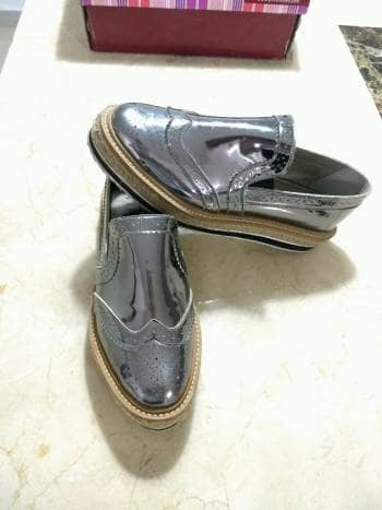 Zapatos plataforma plata