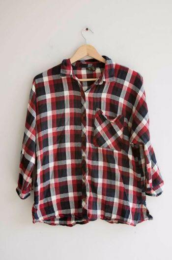 Camisa de cuadros rojos