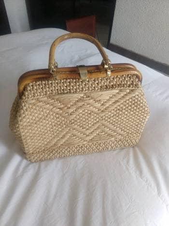 Hermosa bolsa de mimbre OFERTA!!! Aprovecha