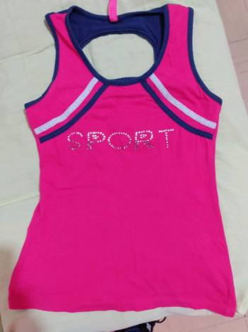 Playera sport rosa