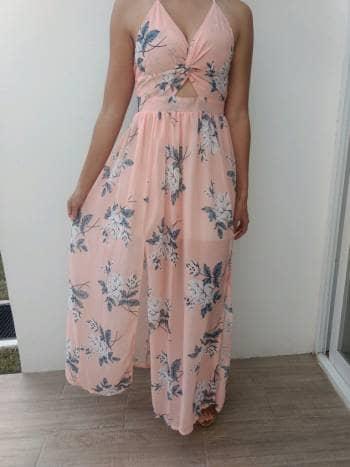 Vestido Floreado 2018 649185 Flores Rosa Verano Maxi