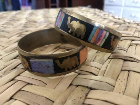 Par de pulseras antiguas de la india