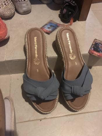 Sandalias azules mujer