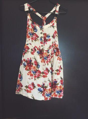 Overol-Vestido floreado