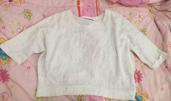362e49923 Blusa blanca estampada - GoTrendier - 821616