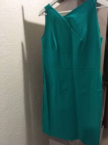 Vestido formal verde esmeralda