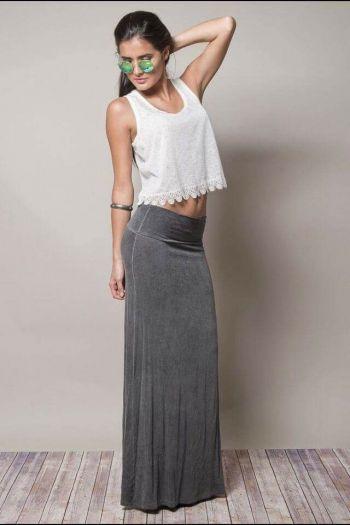 Maxi falda Gap color gris