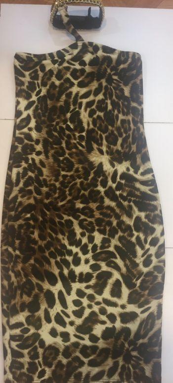Vestido fiesta  corto leopardo
