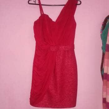 Vestido Corto S Rojo