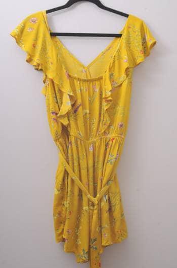 Jumpsuit amarillo con flores