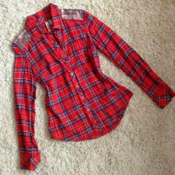 Camisa cuadros roja