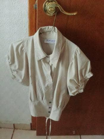 Camisa beige vintage